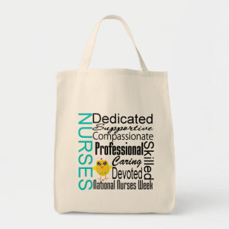 Nurses Recognition Collage - National Nurses Week Tote Bags