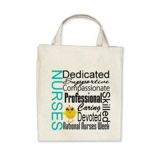 Nurses Recognition Collage - National Nurses Week Canvas Bags