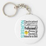 Nurses Recognition Collage - National Nurses Week Basic Round Button Keychain