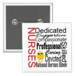 Nurses Recognition Collage:  National Nurses Week Pins