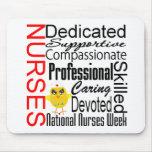 Nurses Recognition Collage:  National Nurses Week Mousepads