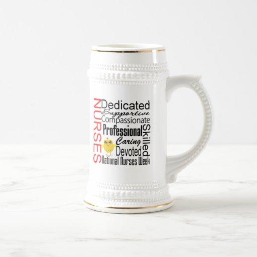 Nurses Recognition Collage:  National Nurses Week Mugs