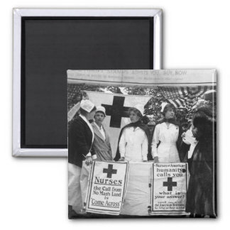 Nurses Recruiting Station World War One 2 Inch Square Magnet