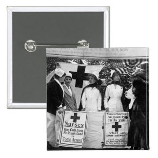 Nurses Recruiting Station World War One 2 Inch Square Button