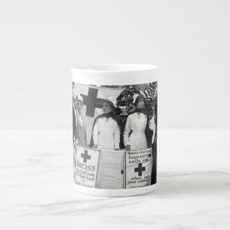 Nurses Recruiting Station World War One Bone China Mugs