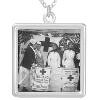 Nurses Recruitment Silver Plated Necklace