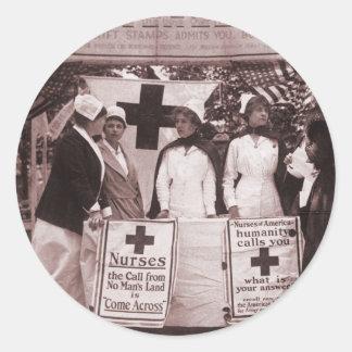 Nurses Recruitment Station WWI Classic Round Sticker