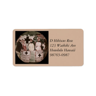 Nurses Recruitment Station WWI Address Label