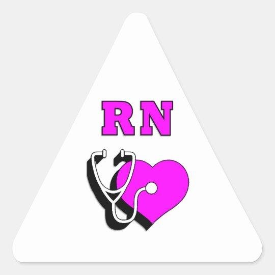 Nurses RN Care Triangle Sticker