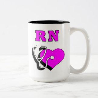 Nurses RN Care Two-Tone Coffee Mug