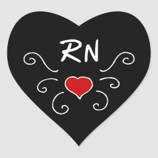 Nurses RN Love Tattoo Heart Sticker
