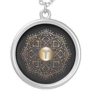 Nurses RN LPN Nursing Medical Caduceus Symbol Silver Plated Necklace