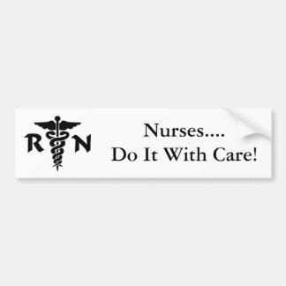 Nurses RN Medical Symbol Bumper Sticker