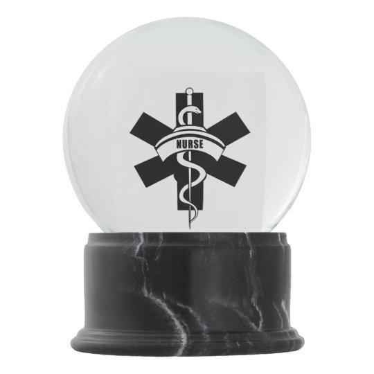 Nurses Rn Medical Symbol Snow Globe Zazzle