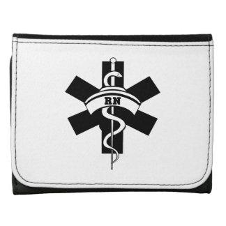 Nurses RN Nursing Leather Tri-fold Wallet