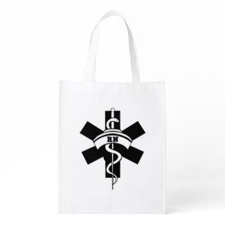 Nurses RN Nursing Reusable Grocery Bag