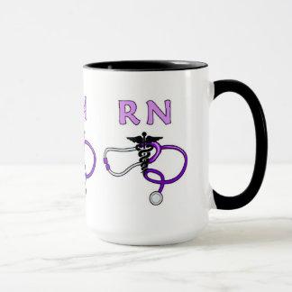 Nurses RN Stethoscope Mug