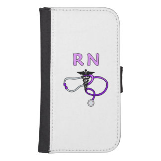 Nurses RN Stethoscope Wallet Phone Case For Samsung Galaxy S4