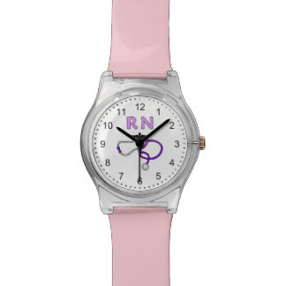 Nurses RN Stethoscope Wrist Watch