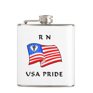 Nurses RN USA Pride Flasks