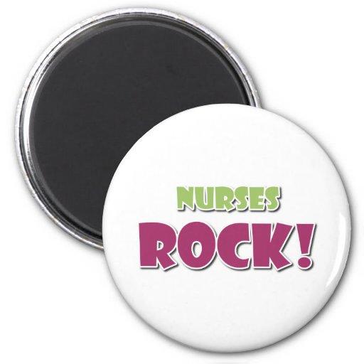 Nurses Rock! 2 Inch Round Magnet