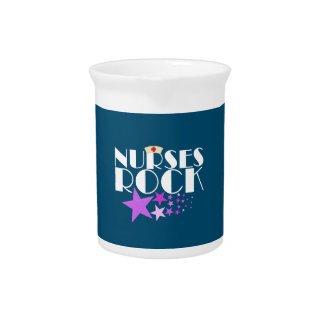 Nurses Rock Beverage Pitcher