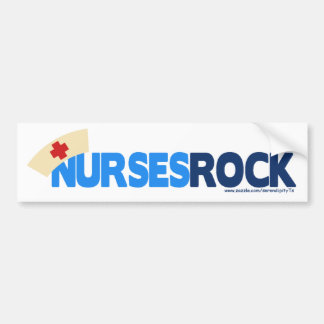 Nurses Rock Car Bumper Sticker