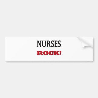 Nurses Rock Bumper Sticker