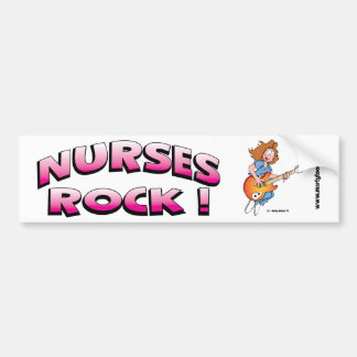 Nurses Rock Bumper Sticker