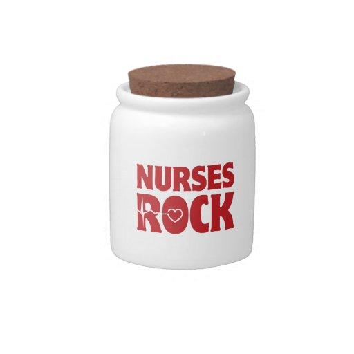 Nurses Rock Candy Jars
