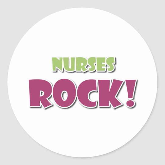 Nurses Rock! Classic Round Sticker