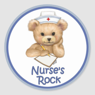 Nurse's Rock Classic Round Sticker