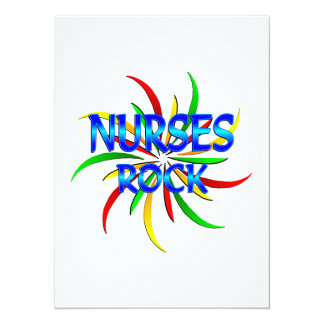 Nurses Rock 5.5x7.5 Paper Invitation Card