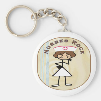 Nurses Rock Keychain