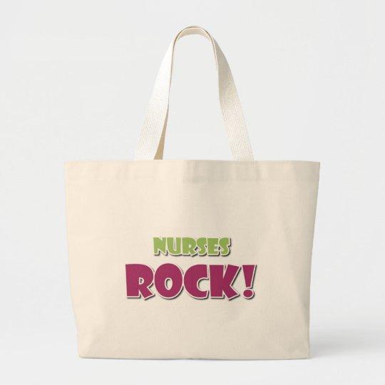 Nurses Rock! Large Tote Bag
