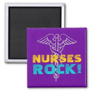 Nurses Rock! Magnet with caduceus symbol