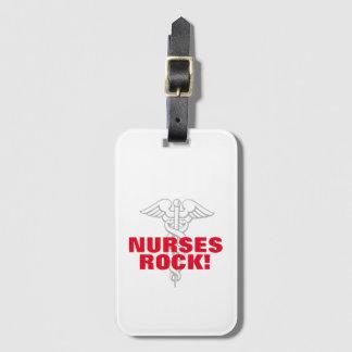 NURSES ROCK nursing caduceus travel luggage tags