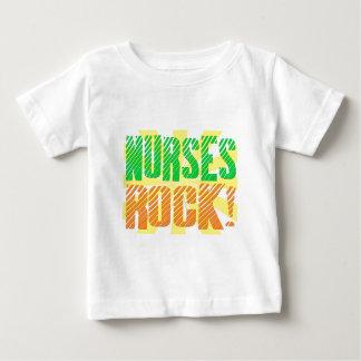 Nurses Rock, Orange and Green Fun Baby T-Shirt