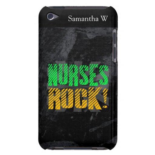 Nurses Rock, Orange and Green Fun Case-Mate iPod Touch Case