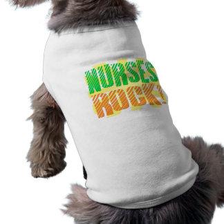 Nurses Rock, Orange and Green Fun Pet Tee Shirt