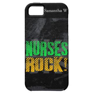 Nurses Rock, Orange and Green Fun iPhone SE/5/5s Case