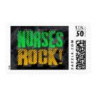Nurses Rock, Orange and Green Fun Postage