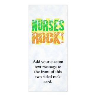 Nurses Rock, Orange and Green Fun Customized Rack Card