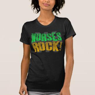Nurses Rock, Orange and Green Fun Tee Shirt