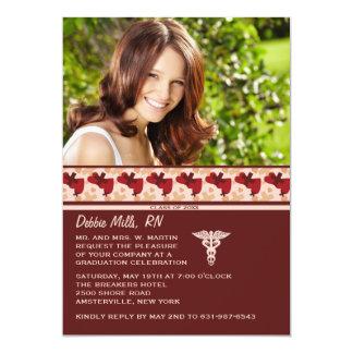 "Nurses Rock Photo Graduation Invitation 5"" X 7"" Invitation Card"