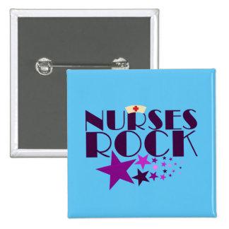 Nurses Rock Pinback Button