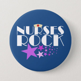 Nurses Rock Pinback Button