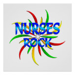 Nurses Rock Poster