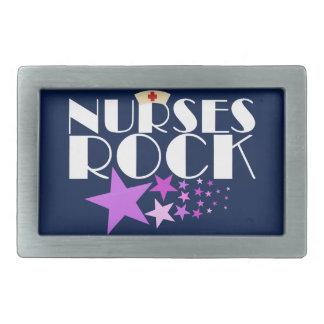 Nurses Rock Rectangular Belt Buckle