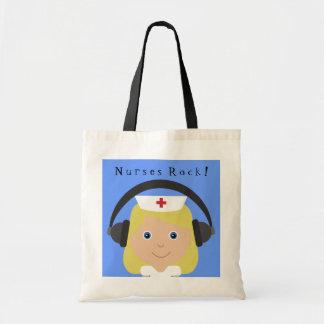 Nurses Rock! Tote Bag